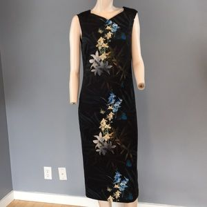 Ted Baker Print Fitted Dress Exposed Zipper